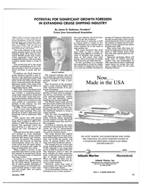 Maritime Reporter Magazine, page 13,  Jan 1989 travel industry