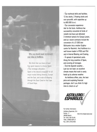 Maritime Reporter Magazine, page 29,  Jan 1989 Astilleros Espanoles S.A.