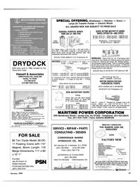 Maritime Reporter Magazine, page 51,  Jan 1989