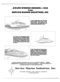 Maritime Reporter Magazine, page 3rd Cover,  Jan 1989 Service Marine Industries Inc.