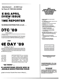 Maritime Reporter Magazine, page 19,  Feb 1989