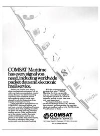 Maritime Reporter Magazine, page 1,  Feb 1989 COMSAT Maritime Service