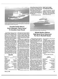 Maritime Reporter Magazine, page 49,  Feb 1989