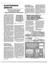 Maritime Reporter Magazine, page 63,  Feb 1989