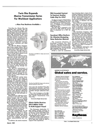Maritime Reporter Magazine, page 9,  Mar 1989 MG-516 Marine Transmission Series