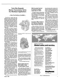 Maritime Reporter Magazine, page 9,  Mar 1989 MG-516 Marine Transmission Series
