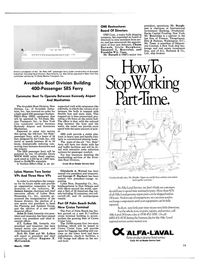 Maritime Reporter Magazine, page 11,  Mar 1989 Avondale Boat Division Building 400