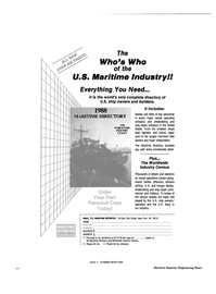 Maritime Reporter Magazine, page 60,  Mar 1989 New York
