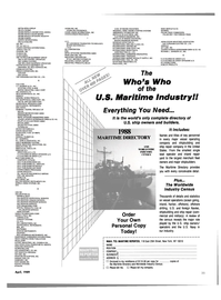 Maritime Reporter Magazine, page 29,  Apr 1989 HALLIBURTON SERVICES VANN SYSTEMS HARCO TECHNOLOGIES