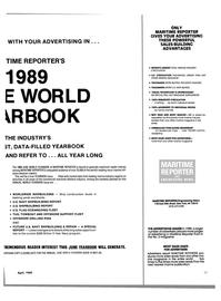 Maritime Reporter Magazine, page 33,  Apr 1989 rine magazine