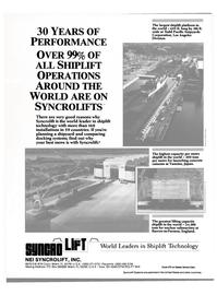 Maritime Reporter Magazine, page 27,  Jun 1989 shiplift technology
