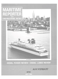 Maritime Reporter Magazine Cover Jul 1990 -