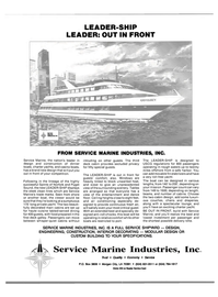 Maritime Reporter Magazine, page 3rd Cover,  Aug 1990 FROM SERVICE MARINE INDUSTRIES INC.