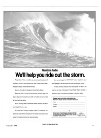 Maritime Reporter Magazine, page 1,  Sep 1990 ship-to-ship communications