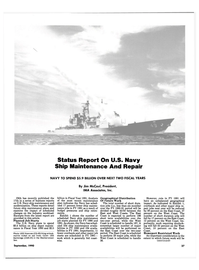 Maritime Reporter Magazine, page 35,  Sep 1990 Status Report On U.S. Navy