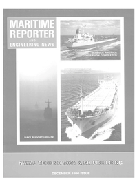 Maritime Reporter Magazine Cover Dec 1990 -