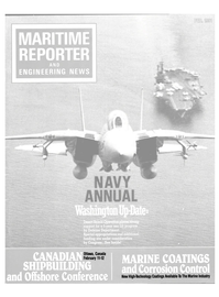 Maritime Reporter Magazine Cover Feb 1991 -