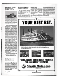 Maritime Reporter Magazine, page 15,  Jan 1992