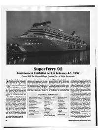 Maritime Reporter Magazine, page 26,  Jan 1992
