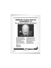 Maritime Reporter Magazine, page 3,  Feb 1992 satellite communications system