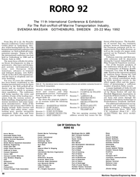 Maritime Reporter Magazine, page 64,  May 1992 Tor Line Convoys