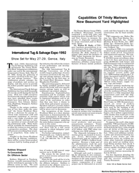 Maritime Reporter Magazine, page 70,  May 1992 New Jersey