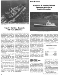 Maritime Reporter Magazine, page 72,  May 1992 Indiana