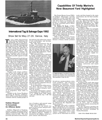 Maritime Reporter Magazine, page 74,  May 1992