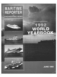 Maritime Reporter Magazine Cover Jun 1992 -