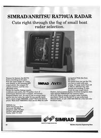 Maritime Reporter Magazine, page 54,  Jun 1992 Simrad Inc.