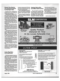 Maritime Reporter Magazine, page 21,  Aug 1992 east coast