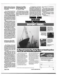 Maritime Reporter Magazine, page 59,  Aug 1992 California