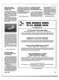 Maritime Reporter Magazine, page 85,  Aug 1992 North Carolina