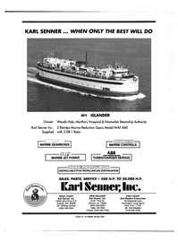 Maritime Reporter Magazine, page 4th Cover,  Aug 1992 Louisiana