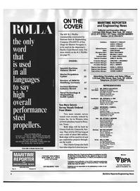 Maritime Reporter Magazine, page 2,  Sep 1992 Connecticut