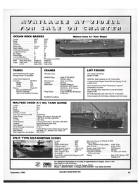 Maritime Reporter Magazine, page 89,  Sep 1992 Approved Capacity