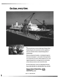 Maritime Reporter Magazine, page 2nd Cover,  Oct 1992 Newport News shipbuilding