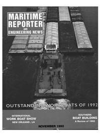 Maritime Reporter Magazine Cover Nov 1992 -