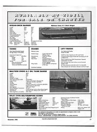 Maritime Reporter Magazine, page 15,  Nov 1992