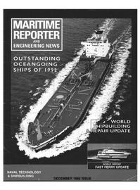 Maritime Reporter Magazine Cover Dec 1992 -