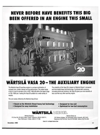 Maritime Reporter Magazine, page 11,  Dec 1992 L Wartsila Diesel Oy