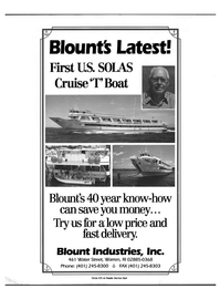 Maritime Reporter Magazine, page 2nd Cover,  Dec 1992 Blount Industries Inc.