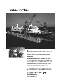 Maritime Reporter Magazine, page 3rd Cover,  Dec 1992 Newport News shipbuilding