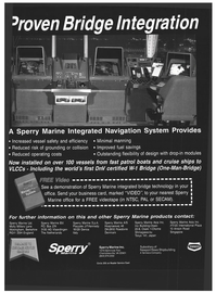 Maritime Reporter Magazine, page 65,  Mar 1993 bridge technology