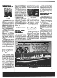 Maritime Reporter Magazine, page 7,  Mar 1993