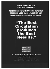 Maritime Reporter Magazine, page 82,  Jan 1994 New York