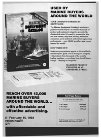 Maritime Reporter Magazine, page 87,  Jan 1994 YOUR COMPANY