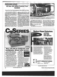 Maritime Reporter Magazine, page 20,  Mar 1994 Secures New Naval Vessel Application