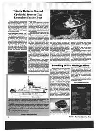 Maritime Reporter Magazine, page 8,  May 1994 Cummins KTA-38M