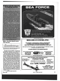 Maritime Reporter Magazine, page 63,  May 1994 ROUTINE MAINTENANCE OR EMERGENCY SERVICE